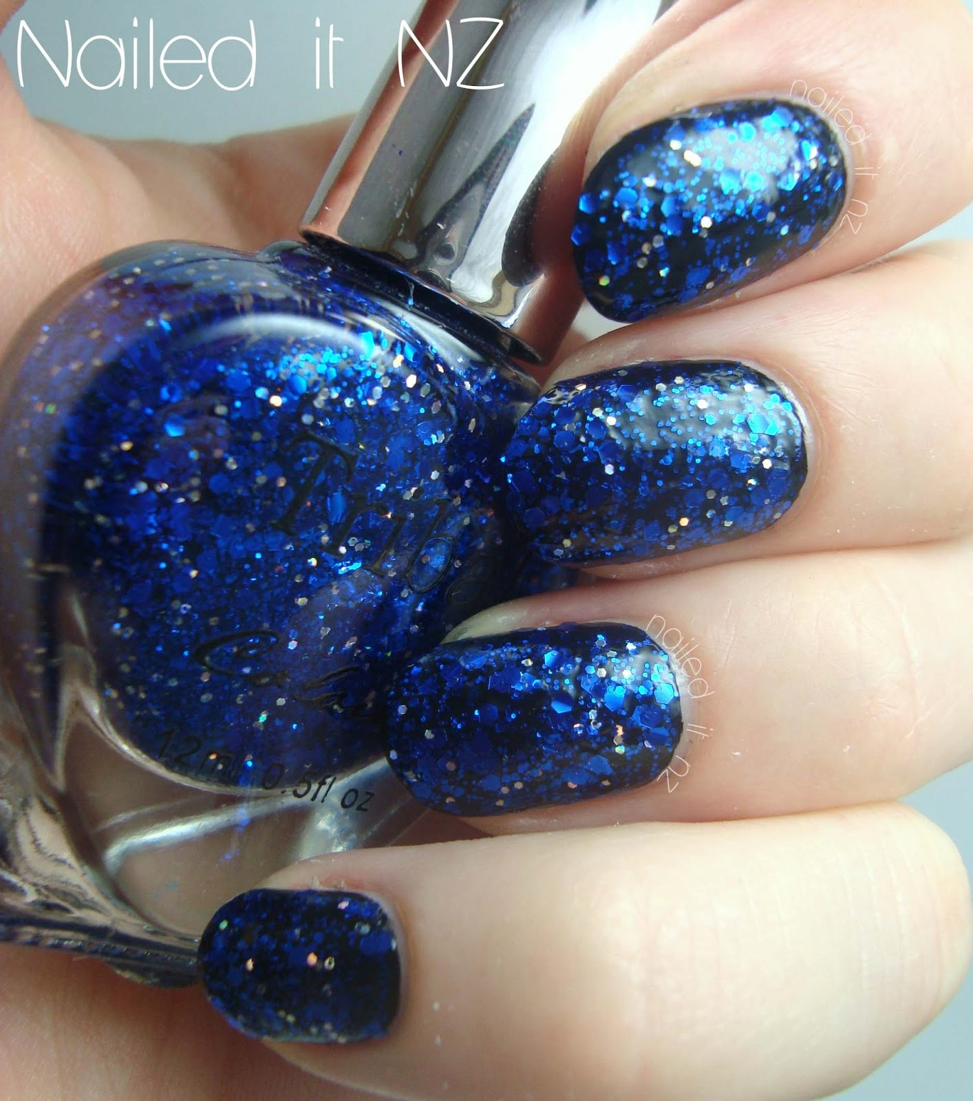 Blue Glitter Nail Polish From Born Pretty Store!