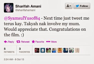 Sharifah Amani Cari Gaduh Dengan Syamsul Yusof, pelakon, artis, hiburan,gosip,