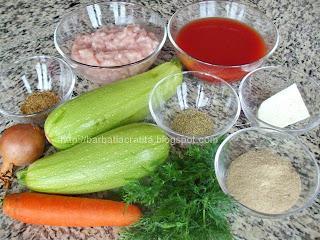 Dovlecei umpluti cu carne de pui la cuptor ingrediente reteta