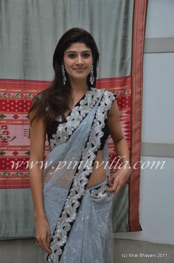 Pooja Batra in white Backless Saree - 20121 -  Hot Pooja Batra in white Backless Saree 