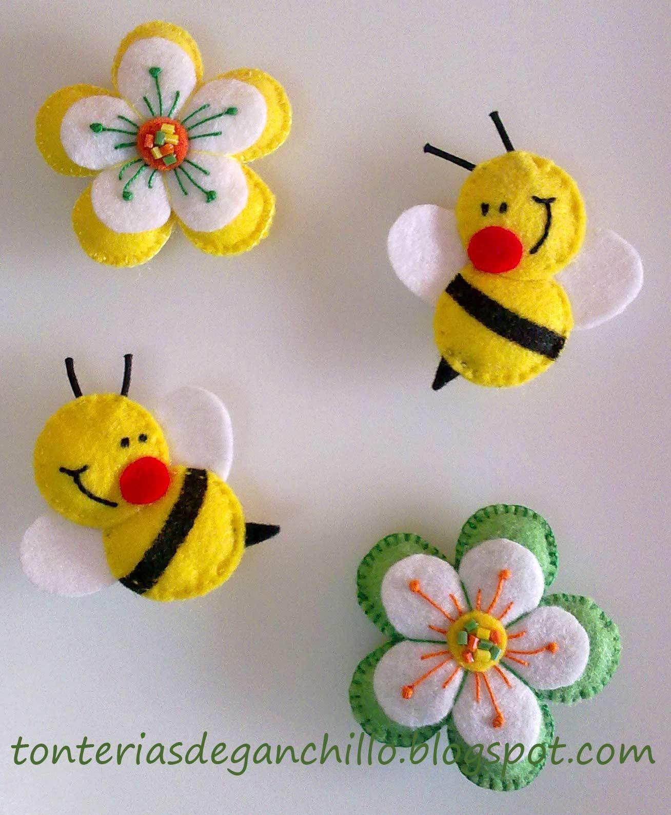 Аппликации и поделки из пчелки