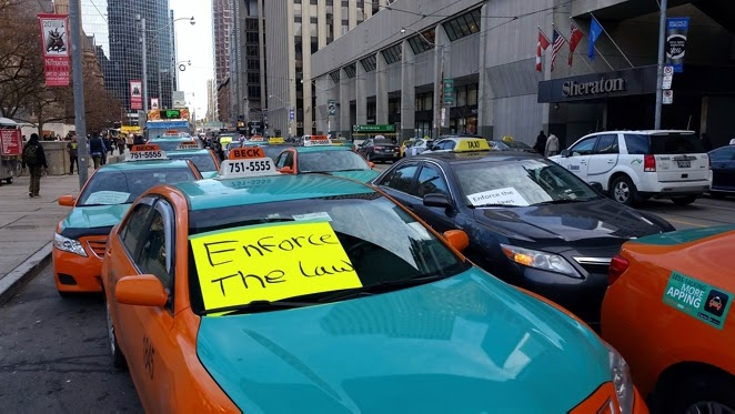 toronto grand prix tourist a toronto blog toronto taxi protest against uber a toronto blog. Black Bedroom Furniture Sets. Home Design Ideas