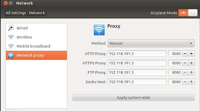Setting Proxy di Ubuntu