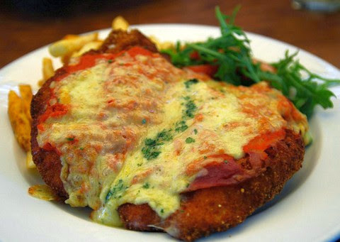 Chicken Parmigiana with Corn and Herbs
