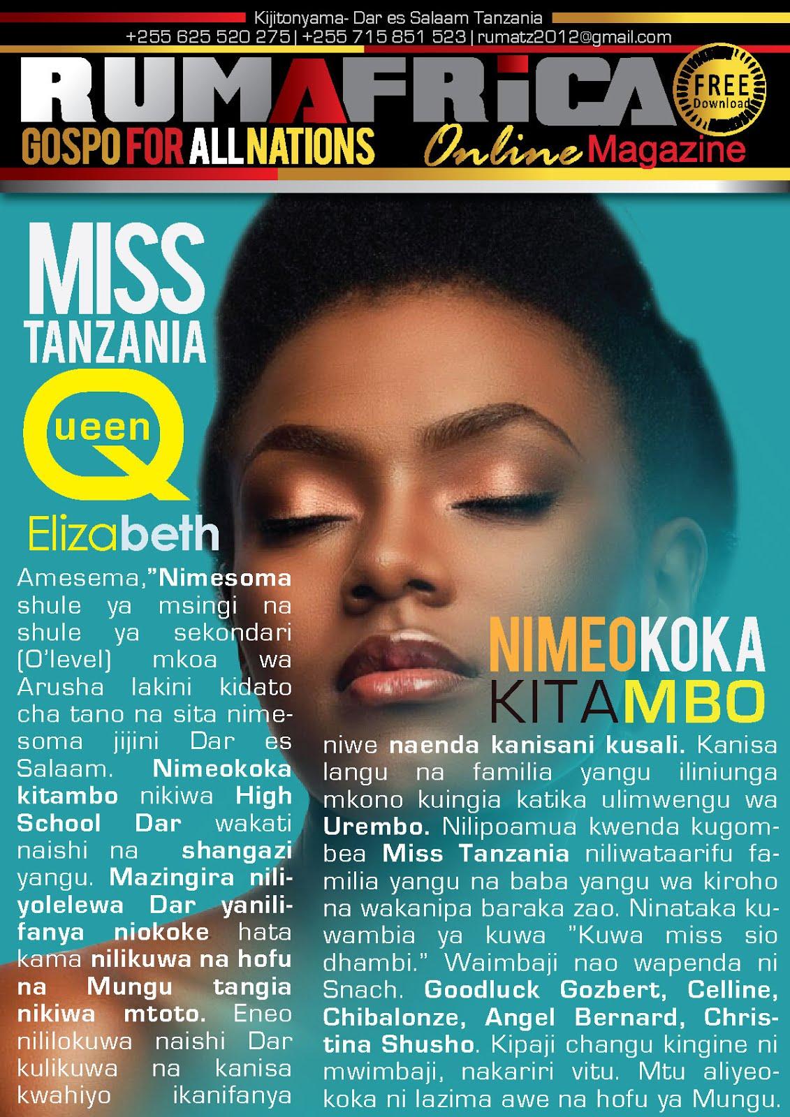 MISS TANZANIA ELIZABETH