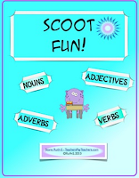 photo of Scoot Fun! Nouns, Verbs, Adjectives, Adverbs, Teachers PayTeachers.com