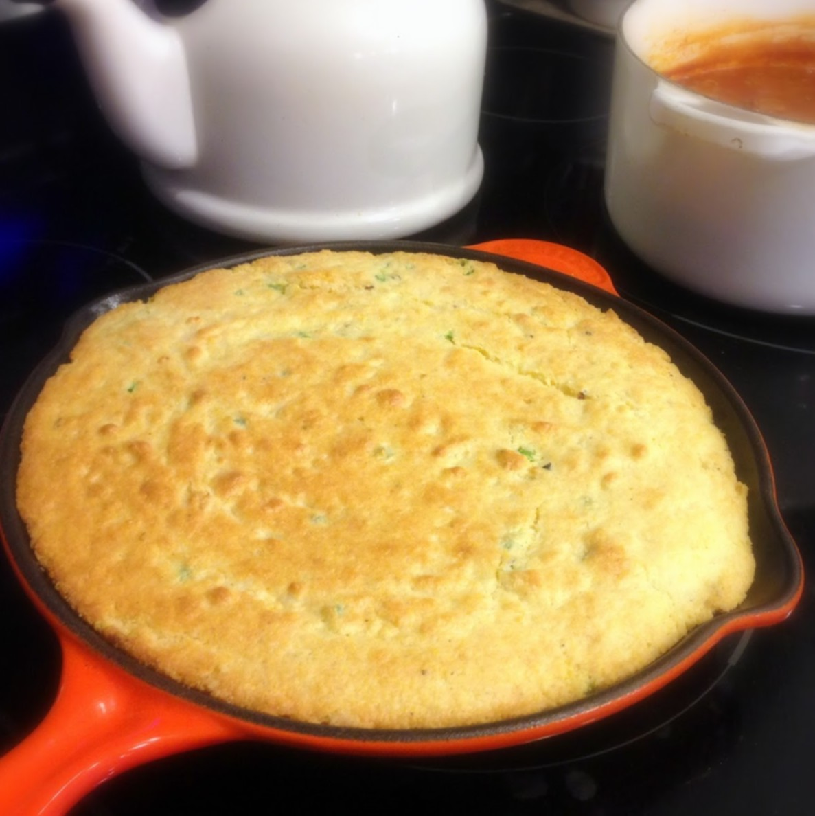 bacon jalapeño cheesy skillet cornbread