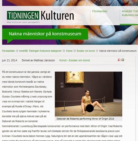 """Skrev en essä i Tidningen Kulturen om """" Nakna människor på ..."""