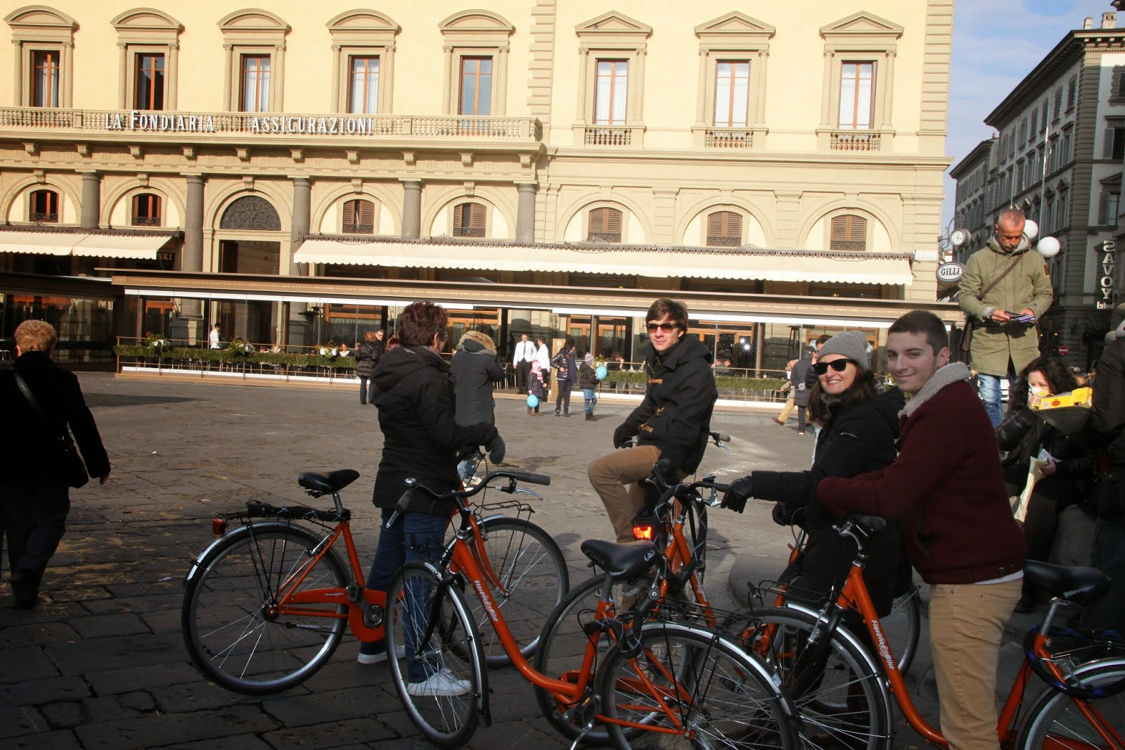 Florence Bike Tour with Elaiza, me :)