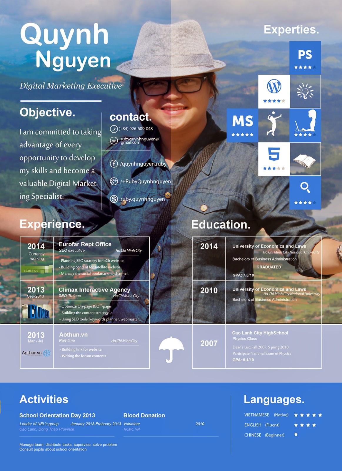 RubyQuynhnguyen Resume - Online Marketing Executive