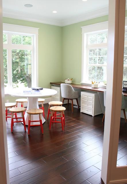 Home tour: Paint color + homework room