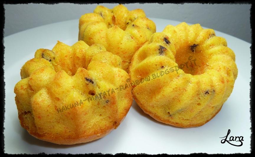 muffin di carote e arance (senza uova e senza burro)