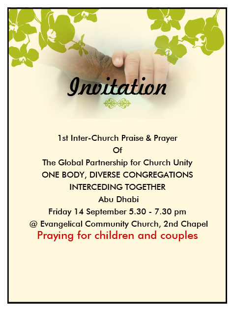 Church Praise Prayer Abu Dhabi Invitation Pastor Mathews Gee