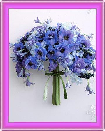 Perfect Blue Wedding Flowers Your wedding colors will be displayed where