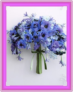 Perfect Blue Wedding Flowers