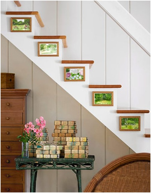 Decoration of stairs. Ideas to decorate staircases