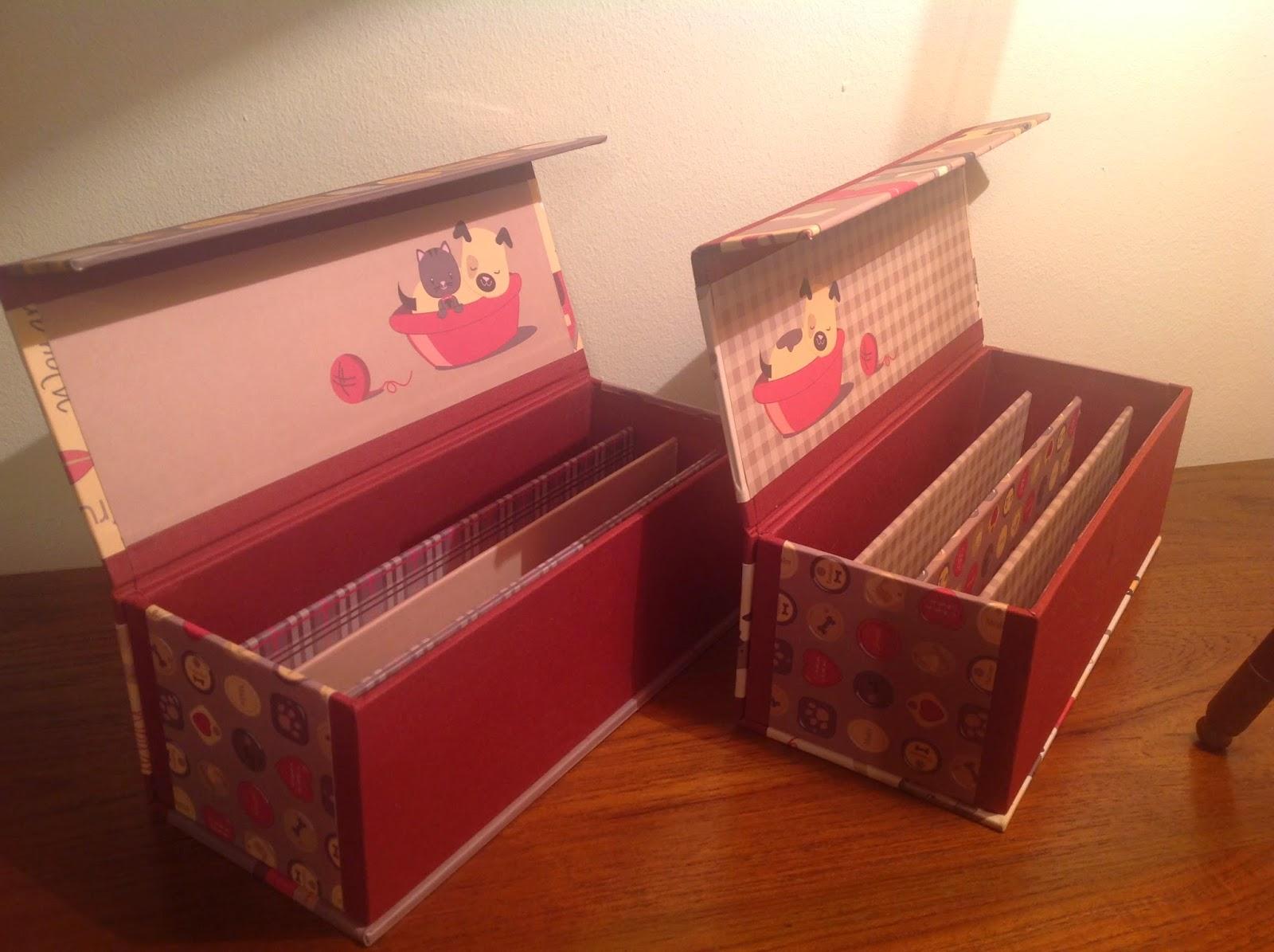 De cart n y trapo cajas para guardar tijeras - Cajas para guardar herramientas ...