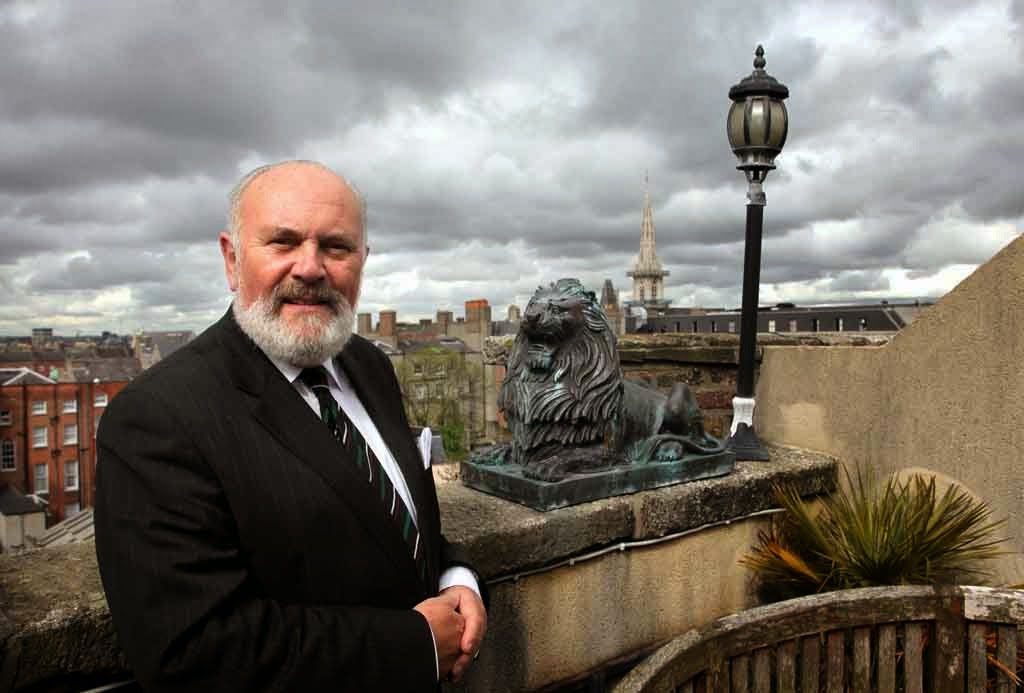 Senator David Norris at home in Dublin.