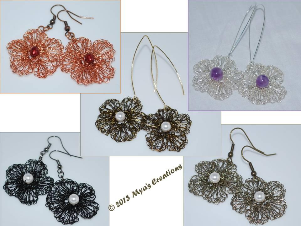 Crochet Jewelry Tutorial : Crocheted Bracelet and Earrings Tutorials on My Etsy shop