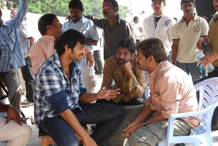 Young Rebel Star Prabhas Die Hard Fans: Bujjigadu Working Stills