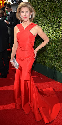 Christine Baranski, 2013 Emmys, red carpet, awards show