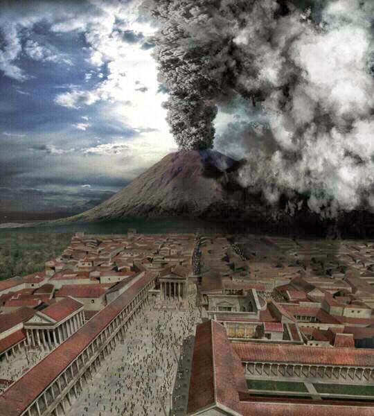 Vesuvius destroys Pompeii