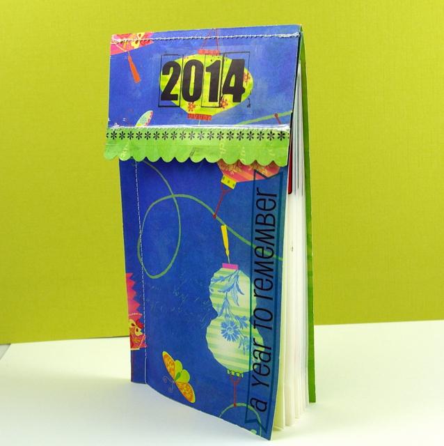 how to make a mini calendar stander