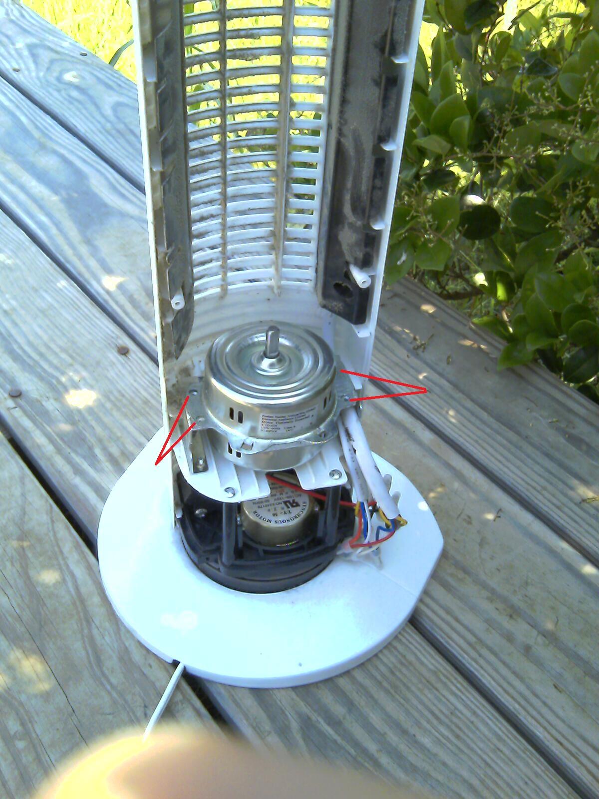 oscillating tower fan motor wiring diagram fan motor parts