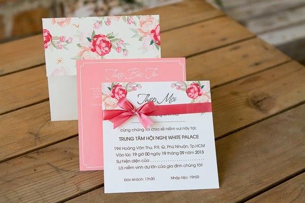 Thiệp cưới đẹp với phong cách Vintage nhẹ nhàng 9