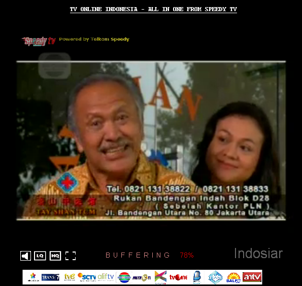 TV ONLINE INDONESIA - ALL IN ONE FROM SPEEDY TV