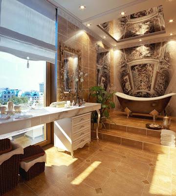 Gambar Desain Dinding Kamar Mandi Modern Minimalis