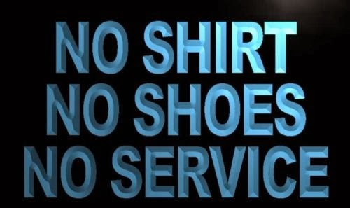 on wings of eagles no shirt no shoes no service