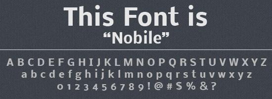 Nobile Font