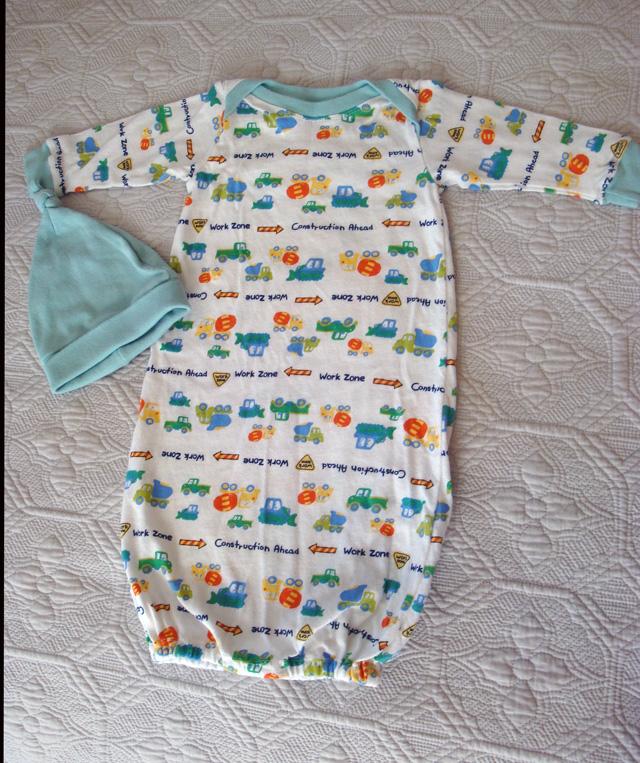 Seemesew baby boy gown