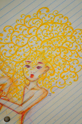 desenhos e cabelos