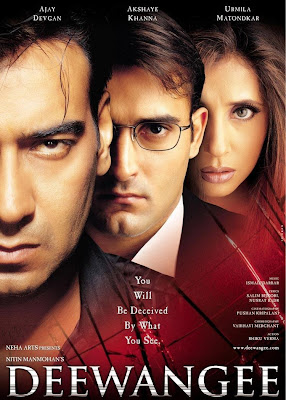 Poster Of Bollywood Movie Deewangee (2002) 300MB Compressed Small Size Pc Movie Free Download World4ufree.Org