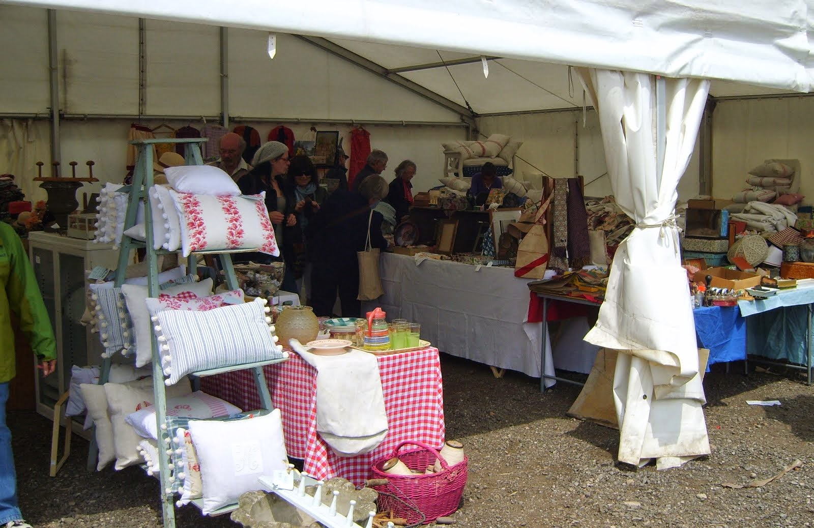 The Textile Tent at Newark Antiques and Collectors Fair