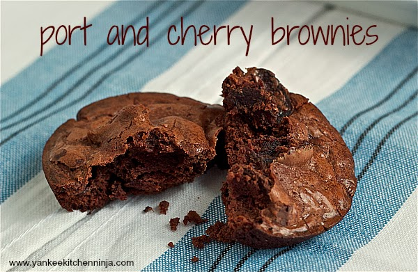 rich and decadent port and cherry brownies