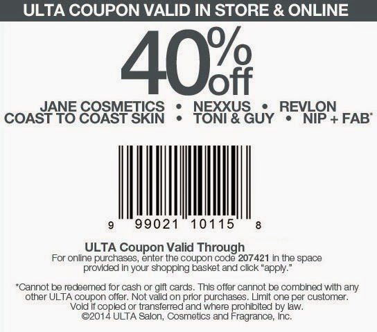All ULTA coupons work on regular and sale priced merchandise but exclude department store beauty and cosmetics brands, perfume, gift cards, and hair salon services. The best coupon of all, but one that's more rare is ULTA's 20% off coupon that works on one item.