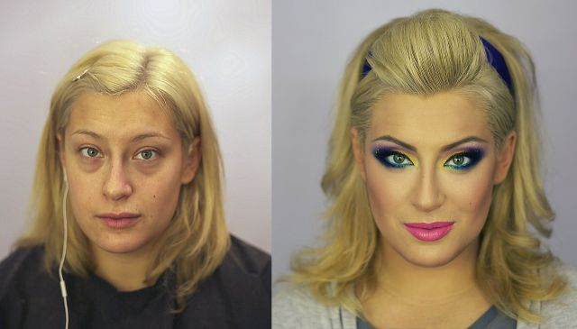 Makeup Before And After - Oh My World!