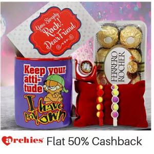 Paytm: Archies Gifts extra upto 50% Cashback :Buytoearn