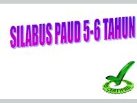 Contoh Silabus PAUD 5-6 Tahun Kurikulum 2013