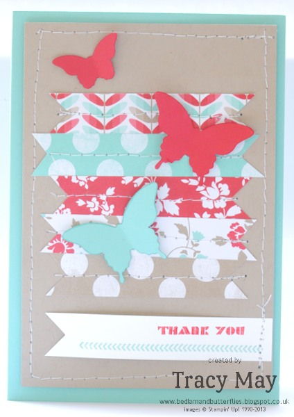 Stampin up demonstrator Bitty butterfly Elegant Butterfly punch Tracy May card making
