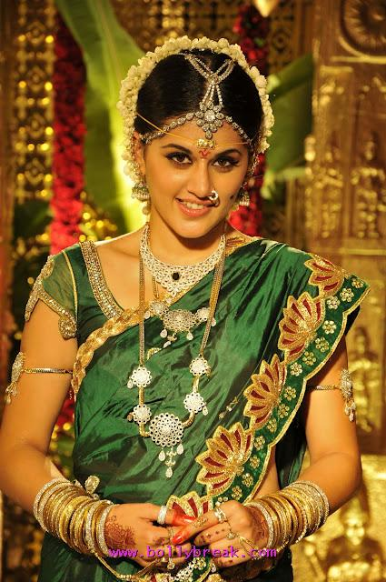 Tapsee Pannu in Green Saree - Tapsee in Green Tradional Saree