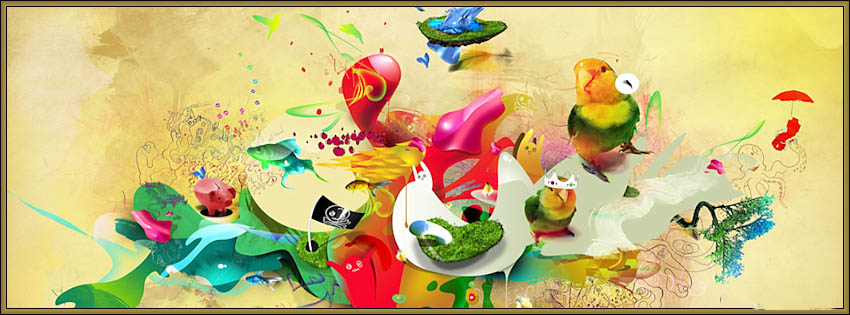 Colored Animals Art With Colores
