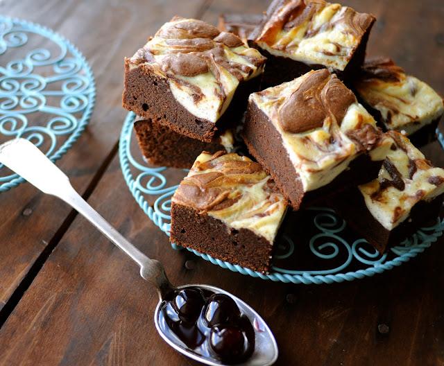 Lækker cheesecake brownie