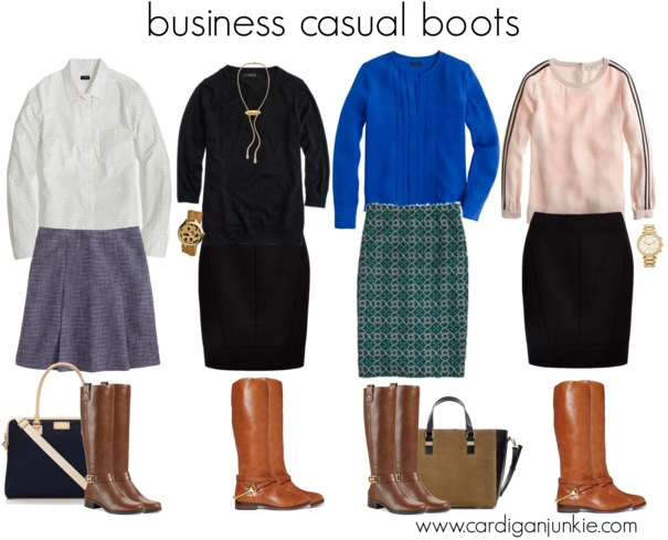 cardigan junkie: Reader Request: Riding Boots at Work