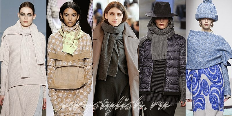 Winter 2015 Women's Scarves Fashion Trends