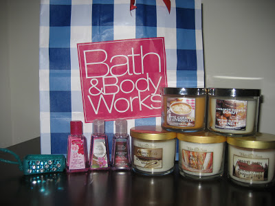Bath and Body Works Haul Candles 2012