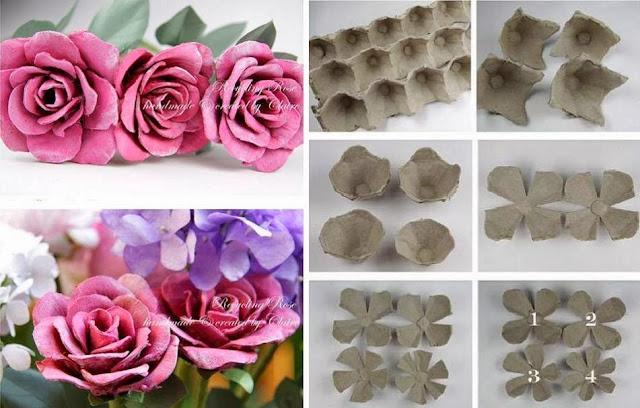 Como Fazer Flores a partir de Caixas de Ovos Recicladas